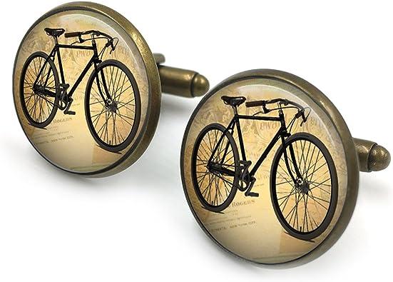 Plateado Gemelos de bicicleta vintage| Gemelos de bicicleta ...