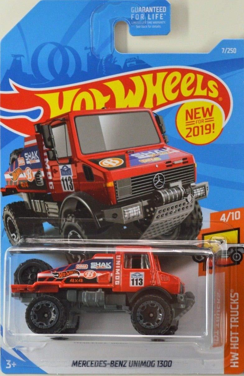 Amazon com: Hot Wheels 2019 HW Hot Trucks Mercedes-Benz UNIMOG 7/250