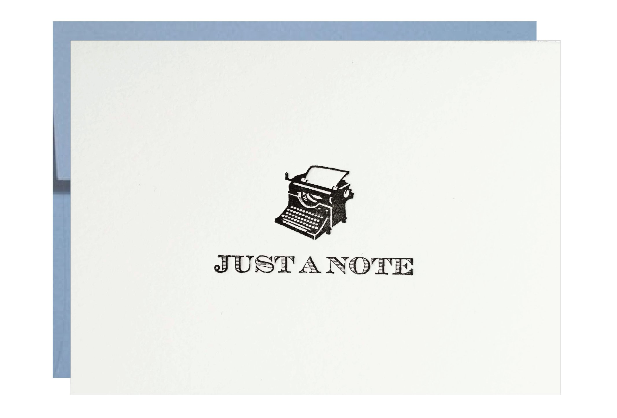 Letterpress Stationery Just a Note Typewriter - 5 pack by Idea Chic