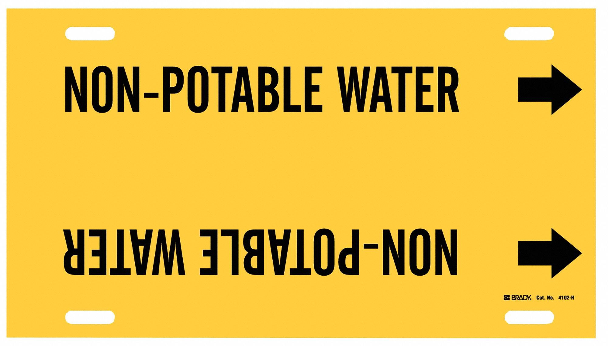 Pipe Markr,Non-Potable Water,Y,10to15 In
