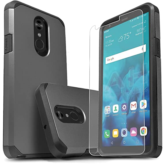 LG Stylo 4 Phone Case, LG Stylo 4 Plus Cases With [Premium Screen Protector  Included] Starshop Dual Layers Impact Advanced Protective Shock Absorption