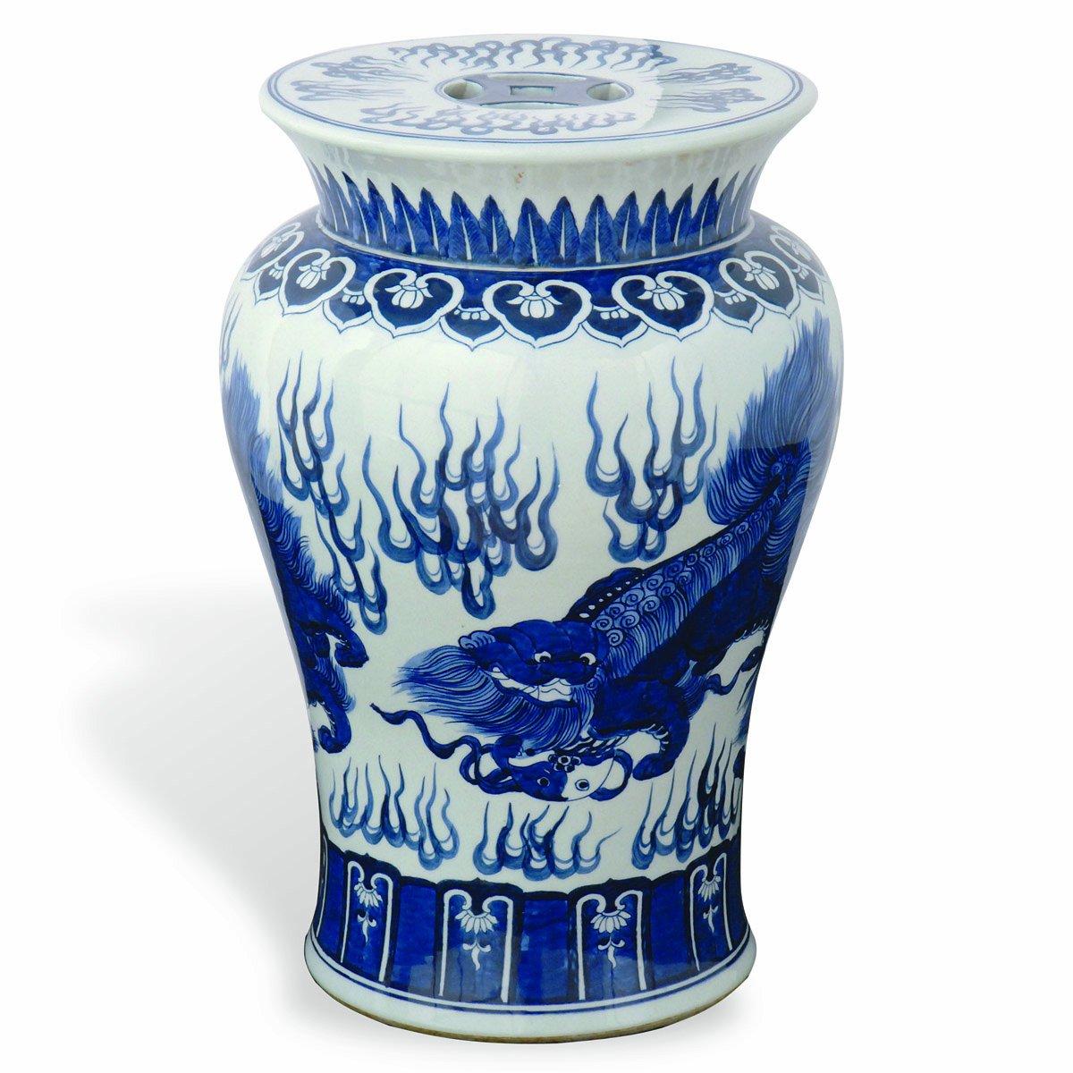 Amazoncom Port 68 Chow Garden Stool Blue 21Inch Tall Kitchen