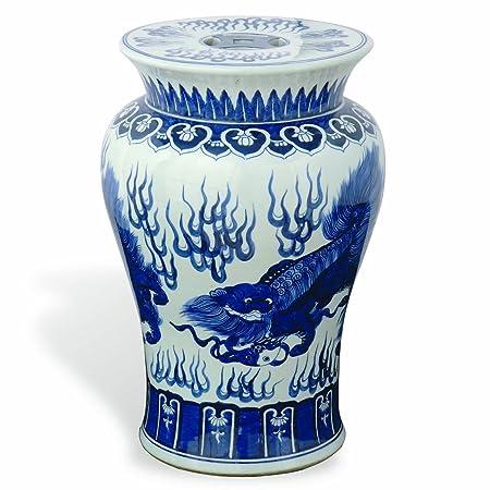 Swell Port 68 Chow Garden Stool Blue 21 Inch Tall Amazon Co Uk Uwap Interior Chair Design Uwaporg