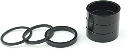 Real CNC Machined //// Silver Anodized 1 1//8 Threadless Headset Stem Spacer Kit