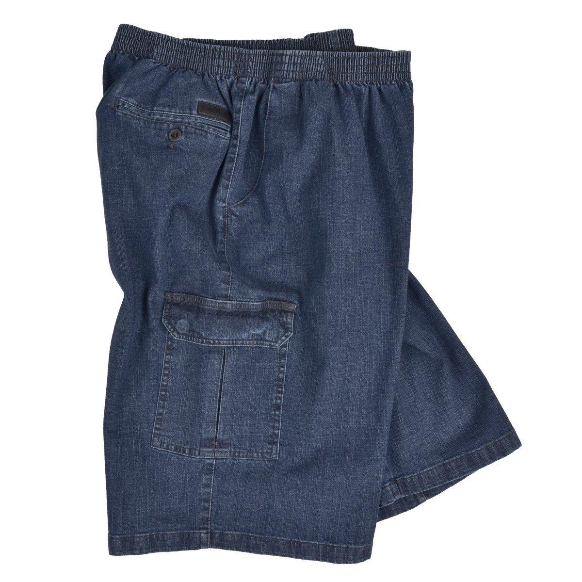 Luigi Morini Jeans Bermuda Gummibund Schlupfhose blau /Übergr/ö/ße