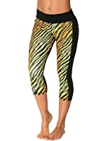 Protokolo Women's Sports Yoga Capri Pants 2752-1 printed