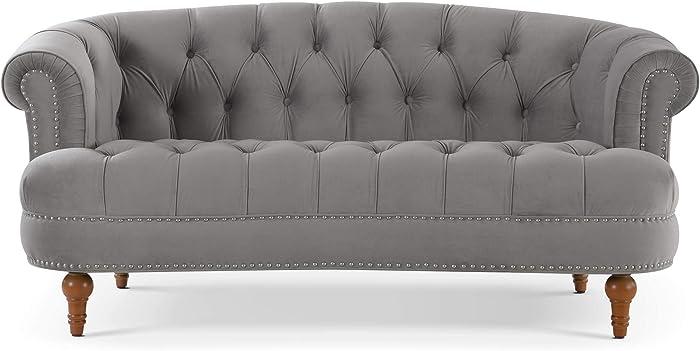Jennifer Taylor Home La Rosa sofas, Opal Grey