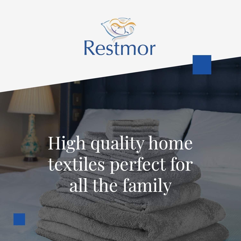 White 9 Piece Towel Bundle restmor Home Textiles Towel Bale Bathroom Towel Set 500GSM 100/% Egyptian Cotton Knightsbridge Towel Range