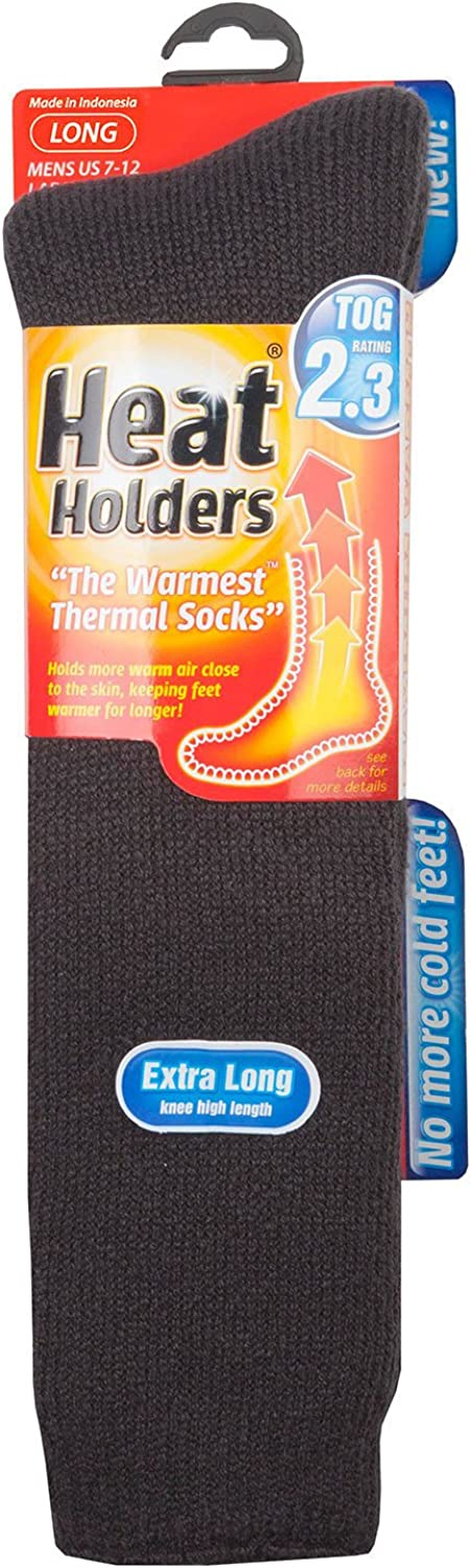 Heat Holders - Men's EXTRA LONG Ultimate Thermal Socks, One size 7-12 us