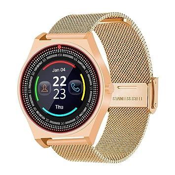 YENJOS Bluetooth Smartwatch, Reloj de Negocios Inteligente Contador de Pasos Reloj Deportivo electrónico con Seguimiento Smartwatches: Amazon.es: Deportes y ...