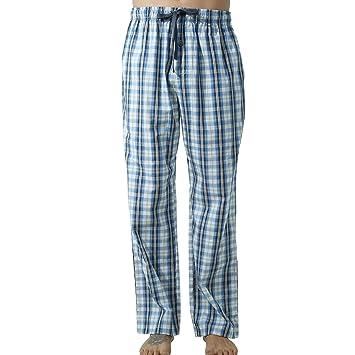 57d586b9b8d5 John Elaine Hommes Pantalon de Pyjama en Coton Carreaux Bas de Pyjama  Vêtement de Nuit Confortable Doux