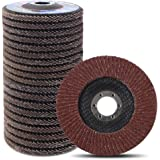 Coceca 20pcs Flap Discs Sanding Grinding Wheels 4-1/2 Inches for Angle Grinder, Type 27 Aluminum Oxide Abrasive(40 60 80…