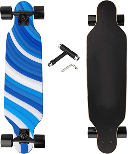 41 Longboard Freestyle Carving Cruising Skateboard 8 Layer Maple T-Tool Included
