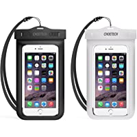 Waterproof Case, CHOETECH [2-Pack] Clear Transparent Pouch Can Touch Screen Dustproof Dry Bag With Neck Strap Compatible with iPhone X 8 8 Plus 7 7 Plus 6S 6S Plus 5 5S SE Galaxy S8 S7 S7 S6 Huawei Goggle Pixel XL Up to 6 Inches