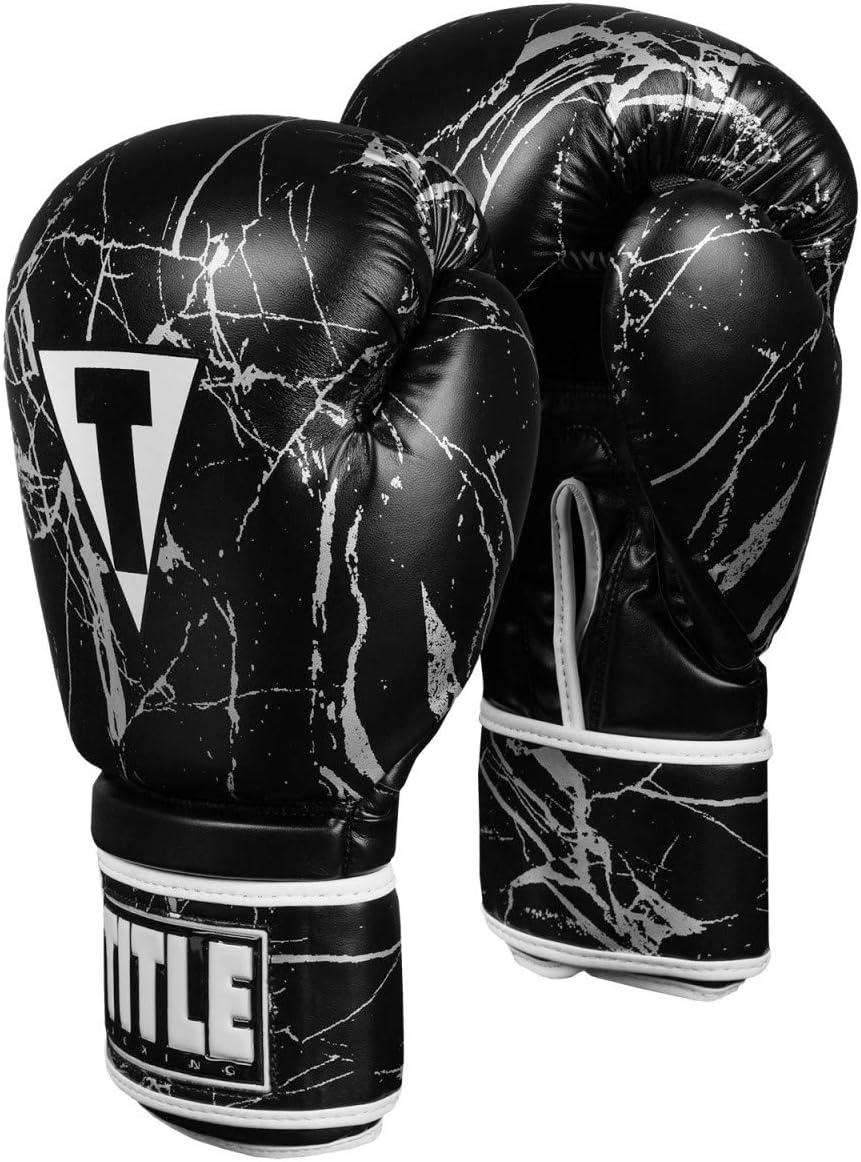 Title ボクシング用大理石バッググローブ 2.0 ブラック/シルバー X-Large