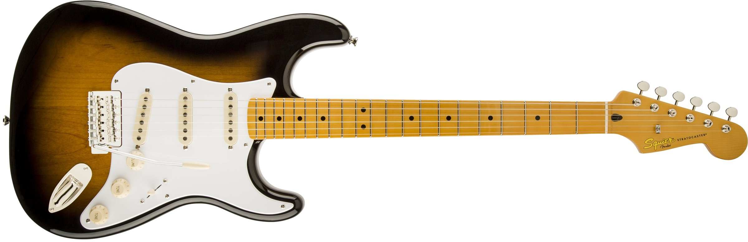 Squier by Fender 303000503 Classic Vibe 50's Stratocaster Electric Guitar - 2-Color Sunburst - Maple Fingerboard