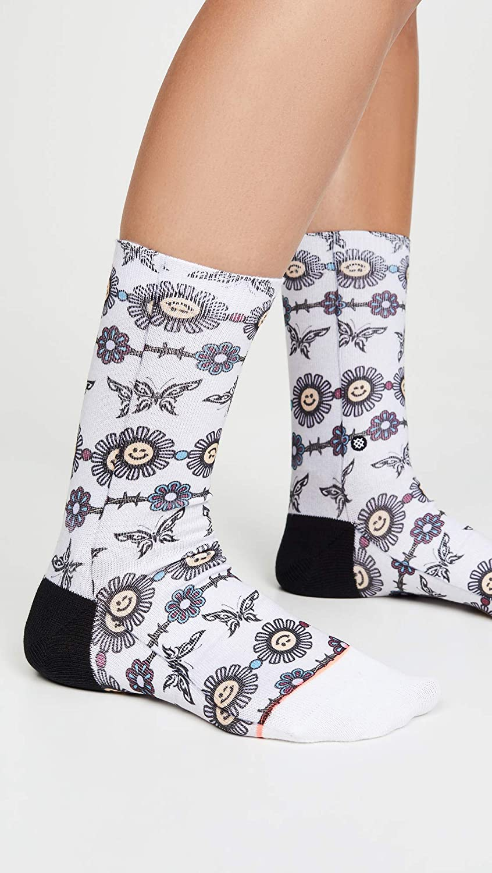 STANCE Womens Daisy Chain Socks Grey Heather Small