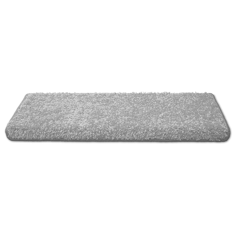 Casa pura Teppich Läufer Uni Silbergrau   Qualitätsprodukt Qualitätsprodukt Qualitätsprodukt aus Deutschland   Gut Siegel   Kombinierbar mit Stufenmatten   19 Breiten und 18 Längen (200 x 300cm) a7ea74