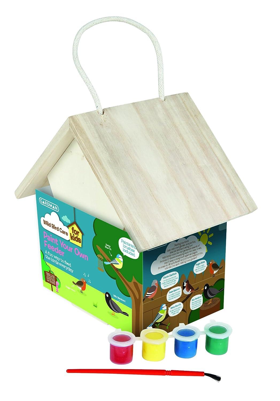 Gardman A01910 Kids Paint Your Own Wild Bird Nest Box - Natural