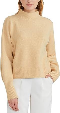 Woolen Bloom Jersey Punto Mujer Suéter Basico Cuello Redondo Jerseys Grueso Camiseta Manga Larga Sueter Mujer Suelto Camisa Casual Sudadera Rebeca ...