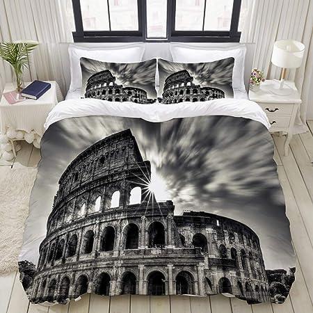 Copripiumino Matrimoniale 220x240.Kissensu Set Biancheria Da Letto Colosseo Roma Italia Copripiumino
