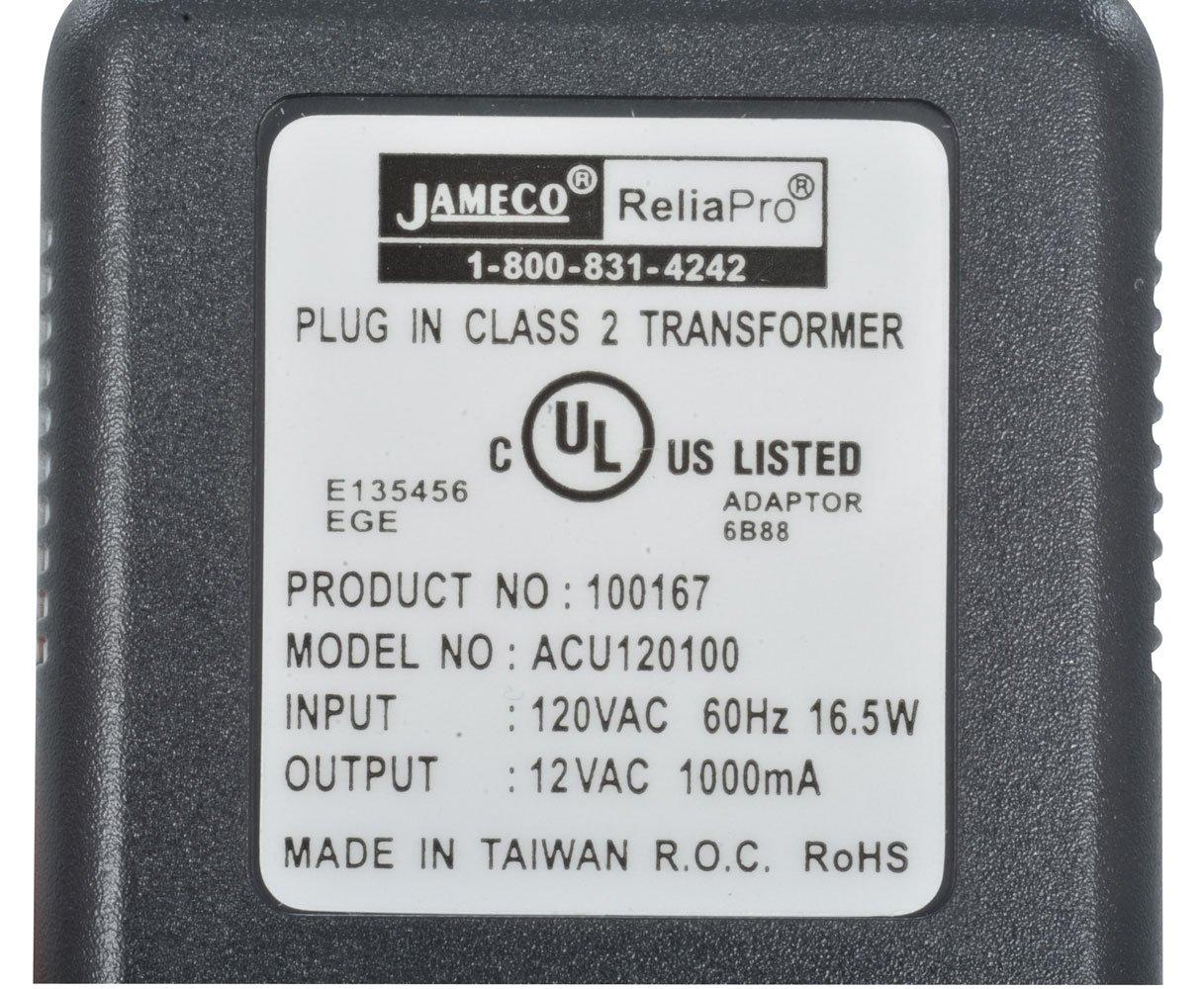 Jameco Reliapro ACU120100D0531 AC to AC Wall Adapter Transformer 12V ...