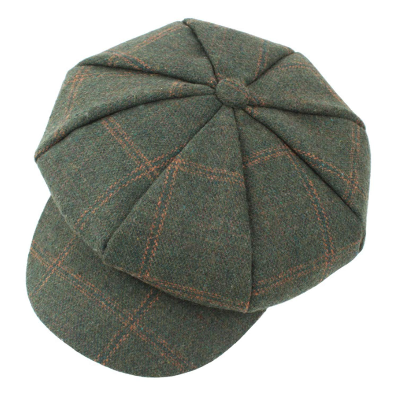 ANDERDM Woollen Tweed Newsboy Men Flat Cap Autumn Beret Caps Herringbone Men Octagonal Flatcap Travel Driver Flat Cap