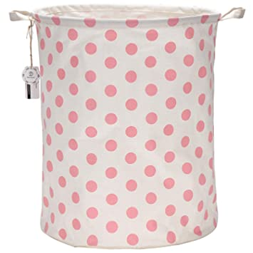 Amazon.com: Canasta cilíndrica plegable para ropa ...
