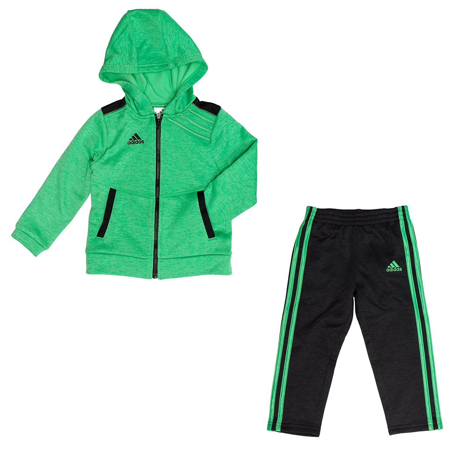 f8ddc8f69da79c 2-piece set includes: Long sleeve pullover with Hoodie and Jogger Pants  Kangaroo pocket on top. Pull on jogger with elastic waistband and rib knit  cuffs