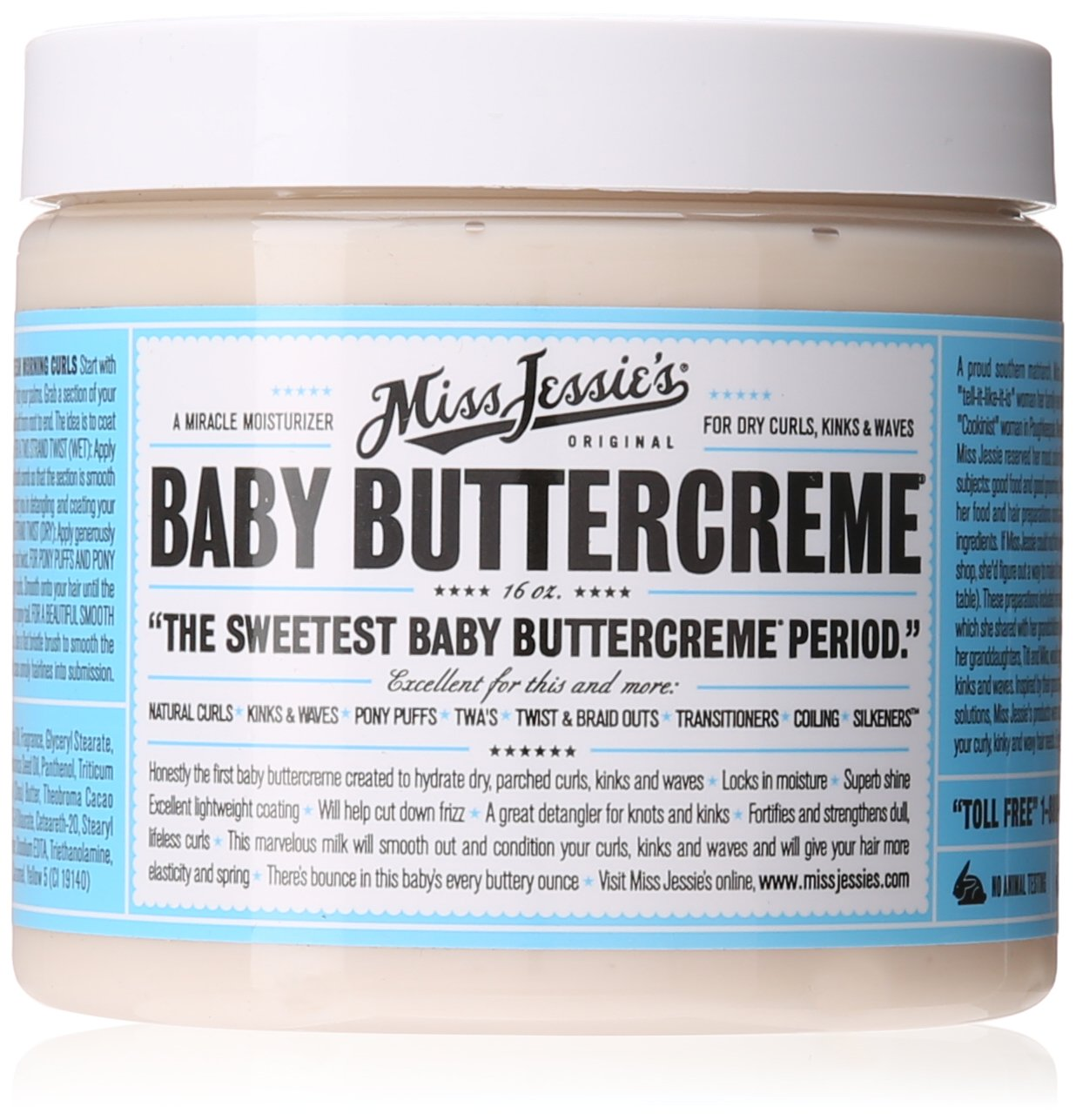 Miss Jessie's Baby Buttercreme, 16 Ounce