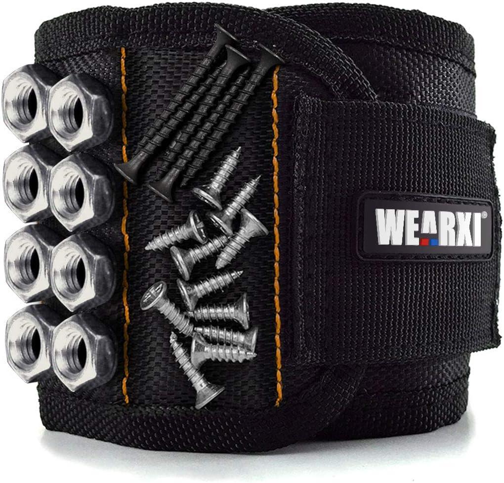 Bracciale magnetico da lavoro wearxi gadget con 15 forti magneti pink16
