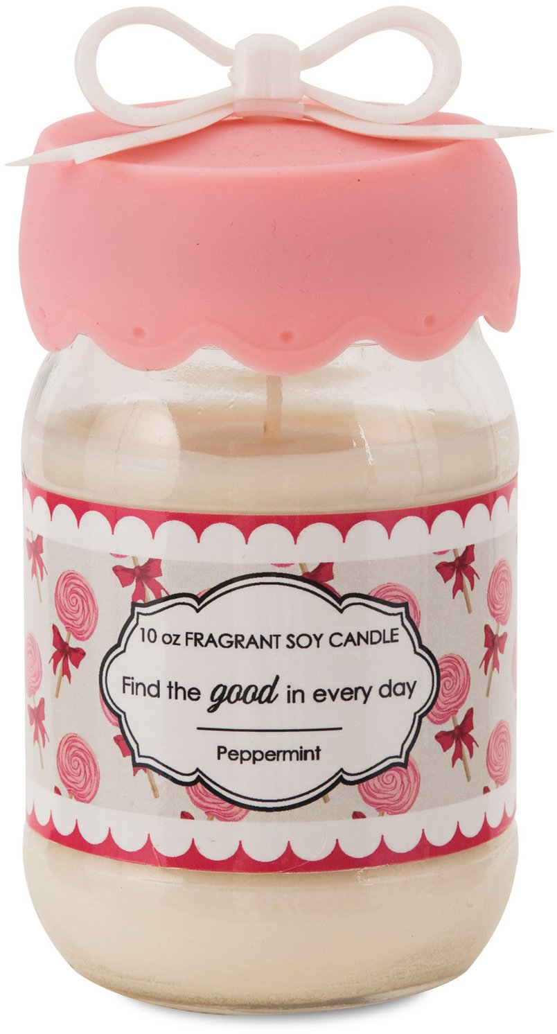 Pavilion Gift Company 47054 You and Me by Jessie Steele ''Find The Good in Every Day'' Soy Jar Candle, 10-Ounce