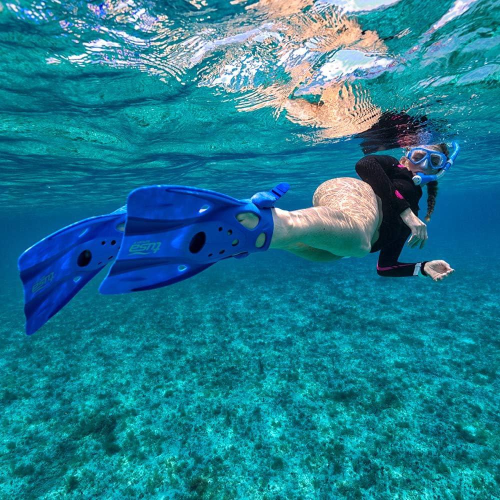 TUSA Sport Long Blade Snorkel Fins Medium Clear Green