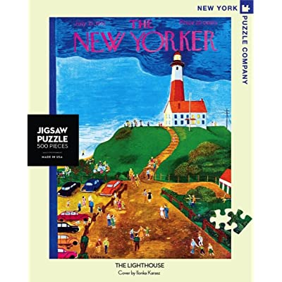 New York Puzzle Company - New Yorker The Lighthouse - 500 Piece Jigsaw Puzzle: Toys & Games...