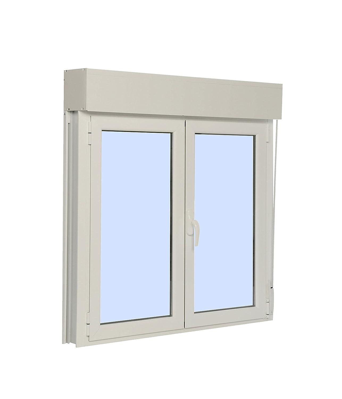 Ventana Aluminio Practicable Oscilobatiente Con Persiana PVC 1200 Ancho x 1355 Alto 2 hojas