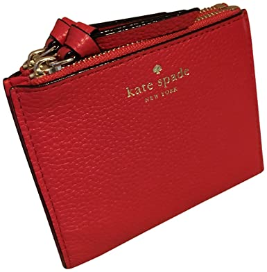 9e594f3001c11 Kate Spade Small Malea Mulberry Street Pebbled Leather Wallet Prickly Pear   Amazon.co.uk  Clothing