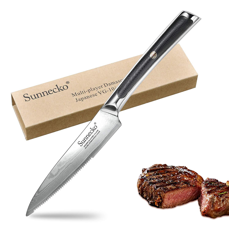 Cuchillo Bistec 5 pulgadas - Sunnecko Profesional Cuchillo ...