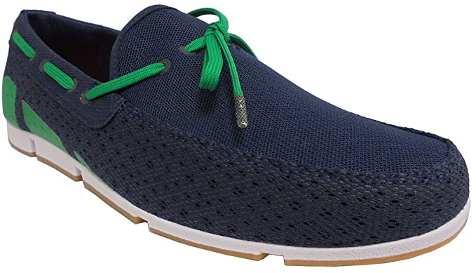 b295a067fe5 Amazon.com  SWIMS Men s Breeze Lace Loafer Boat Shoes - Navy Green ...