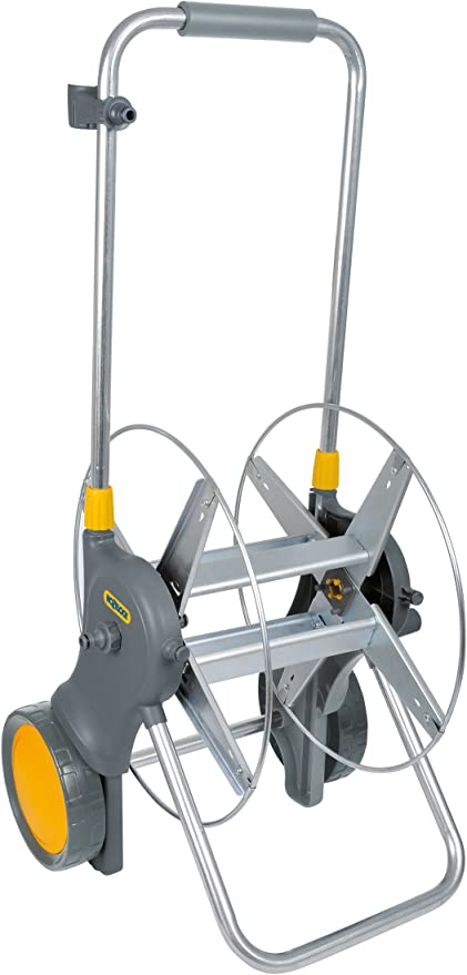 12.5mm 50m Grey /& Yellow Hozelock Hose Reel Cart 1//2/""