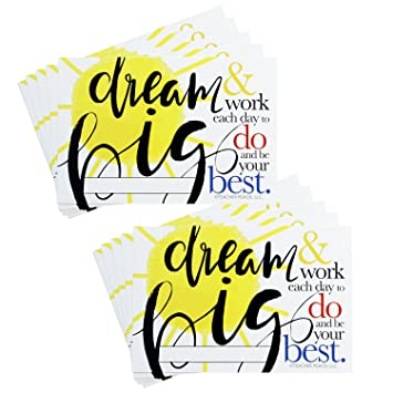 AmazonCom  Teacher Peach Dream Big Positive Postcards