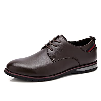 DYF Bureau d'affaires hommes chaussures costume normal à fond plat sangle couleur solide,B,44