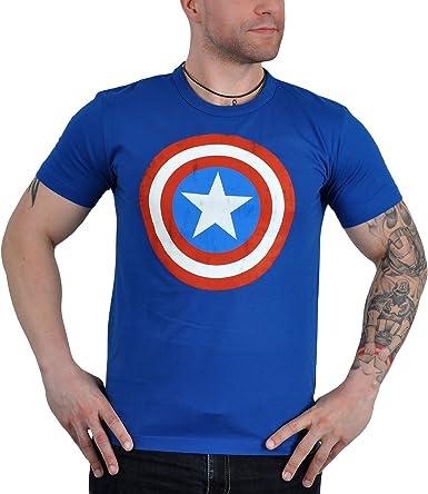Capitán América Escudo camiseta, camisa cómica fresco, de alta calidad - XL: Amazon.es: Ropa y accesorios