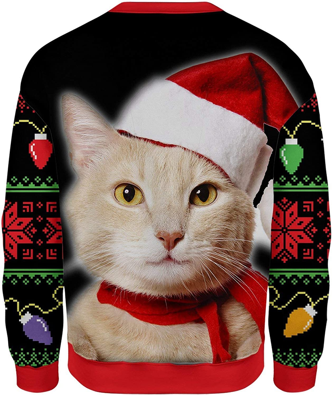 All Over Shirts Meowy Christmas Ugly Sweater