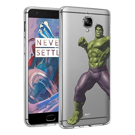 the latest b7969 8c99e MTT Soft & Flexible Marvel Hulk Printed Back Case Cover for OnePlus 3T & 3  (Hulk 18)