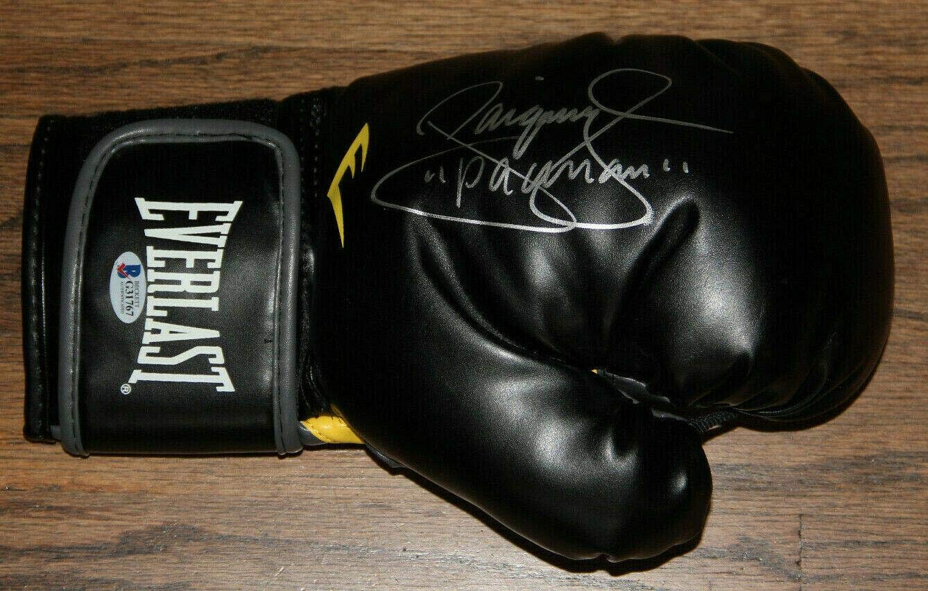"""Manny Pacquiao Signed Autographed Everlast Boxing Glove Bas #g31767""""pacman Beckett Authentication"""