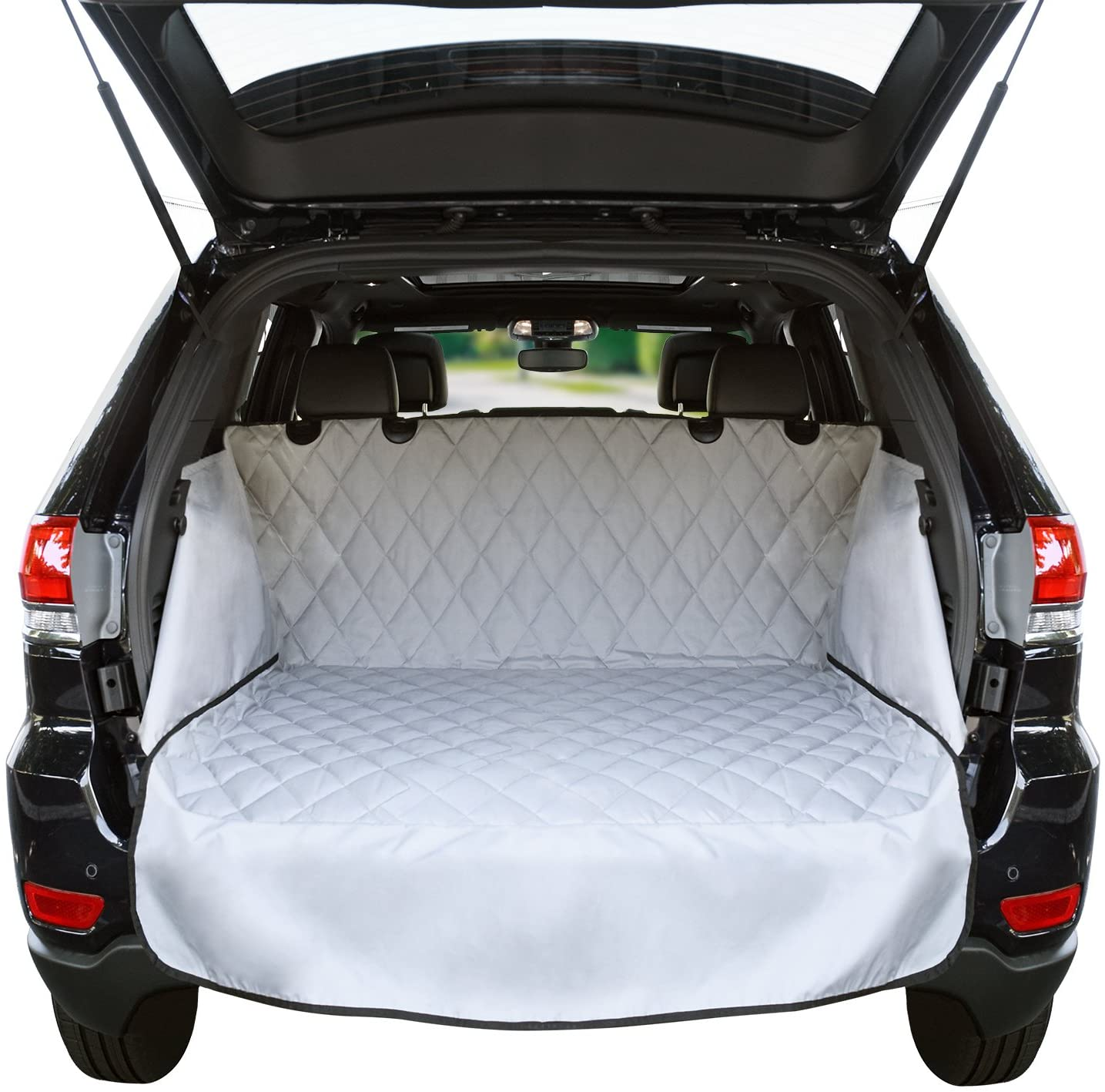 Cargo Liner For SUV s and Cars, Waterproof Material, non Slip Backing, With Side Walls Protectors, Extra Bumper Flap Protector, Large Size – Universal Fit