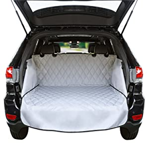 Cargo Liner For SUV's and Cars, Waterproof Material, non Slip Backing, With Side Walls Protectors, Extra Bumper Flap Protector, Large Size - Universal Fit
