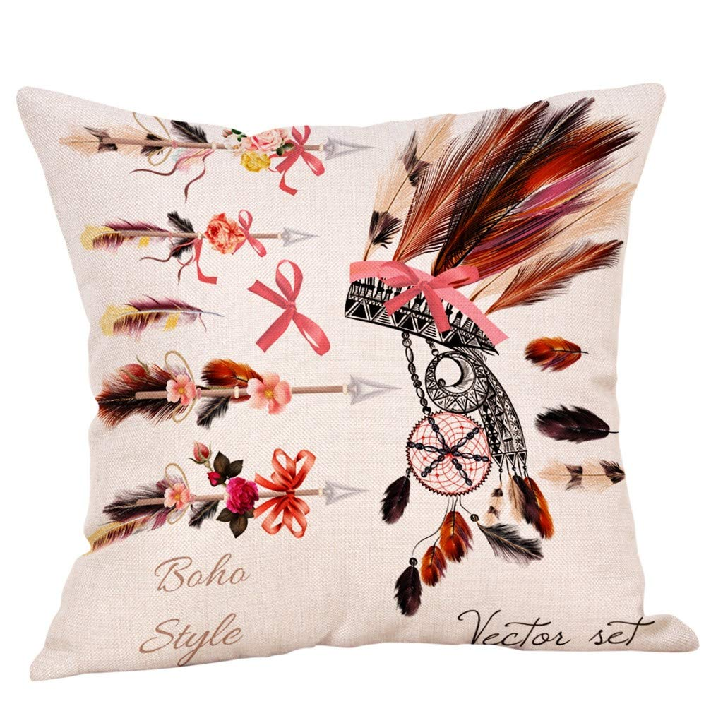 YAYUMI Decorative Watercolor Plant Flower Printed Pattern Upholstery Cushion Cover Cozy Throw Pillow Cases