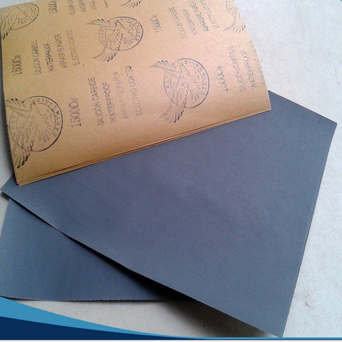 Lot de 70 Papier de Verre Feuilles//Grains 5 x 14 GOCHANGE Papier Abrasif 228 x 93mm /à Sec /à lEau 120 150 180 240 320 400 600 800 1000 1200 1500 2000 2500 3000