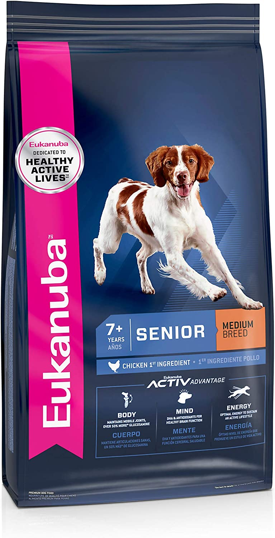 Eukanuba Senior Medium Breed Dry Dog Food, 15 lb. bag